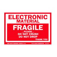China OEM Coated Paper Electrical Warning Labels Anti Oil With Glossy Lamination wholesale