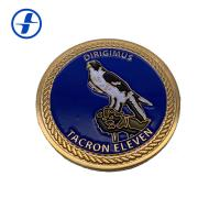 China Round Military Challenge Coins Commemorative Sports Metal Soft Enamel Coin wholesale