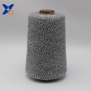 China Ne16/1 metal fiber 5%-polyester fiber 95% twist with Ne32/2 black rayon/viscose  fiber yarn-XT11166 on sale