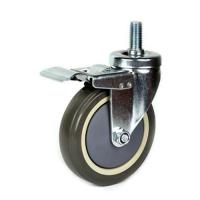 China 75mm PU shopping trolley Caster wholesale