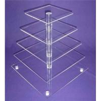 Quality 5-Tier Acrylic Bakery Display Case , Cupcake Food Display Stand Rack for sale