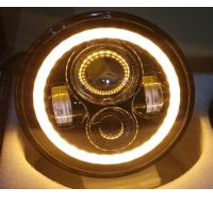 China 2 PC 70W 7inch 6000K 3700lm Round Angel Eyes CREE LED Headlights For Jeep Wrangler JK/TJ/LJ/CJ wholesale