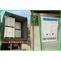 China FSC SBS FBB Cardboard Paper Roll 350 - 400gsm 90 X 110cm For Invisible Sock Packaging wholesale