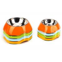 China Two Size Multi Color Cool Pet Bowls , A5 Melamine With Anti Slip Pet Dishes Bowls wholesale