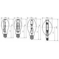 Buy cheap ED28 400W Coated ANSI Standard Explosion-proof Metal Halide Lamp for Indoor and Outdoor product