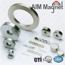 China Neodymium NdFeB cheap big magnetization ring magnet D19.8xd10x5mm wholesale
