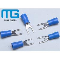 Buy cheap SV 1.25-4 copper Insulated spade female terminals Fork-shaped Cable end terminals from wholesalers