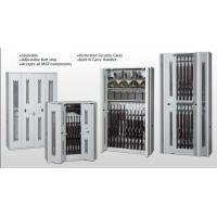 Heavy Duty Wall Cabinets With Perforated Security Gates , Military Weapons Storage Racks