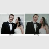 Canvas Custom Oil Painting Portraits From Photographs Hand Painted Wedding Portraits