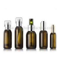 Buy cheap Hot Selling 15ml,30ml,40ml,50ml Colored Glass Lotion Bottles With Pumps or from wholesalers