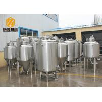 Quality Double Wall Bright Beer Tank 500L Top Manhole With CE Certificated for sale
