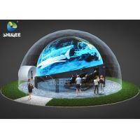 China 360 Mmersive Projection Dome Movie Theater With 16 4D Cinema Chairs Built On The Playground wholesale
