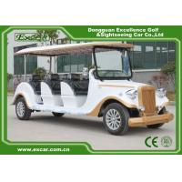 China White 6 Seats Electric Classic Cars AE Approved Classic Car Golf Carts wholesale