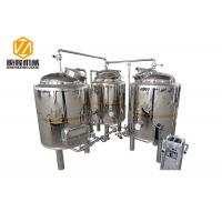 Buy cheap Shinning Mirror Polish Mini Beer Brewery Equipment 500L Pub Brewery With 2 Fermenters from wholesalers