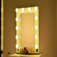 China Makeup Vertical Hollywood Light Up Mirror With Dimmer And 12 LED Bulbs Lights wholesale