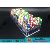 China 100pcs 40mm Light Casino Chip Tray Without Cover Suitable For Card Games wholesale