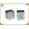 Buy cheap Distinct Twist Off Zinc Alloy Perfume Bottle Caps Gunmetal Square Shape from wholesalers