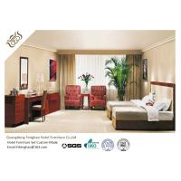 China Mahogany Finished Double - Bed Bedroom Furniture Set Modern Corner Table With Sofa wholesale