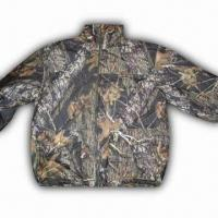 China Hunting Jacket with 100% Polyester Knitted Brush Tricot and TPU 1000/1000 Shell wholesale