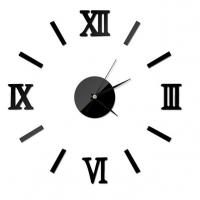 DIY 3D Roman Numbers Mirror Style Multi-Color Wall Clock Home Decor Mirror Wall Sticker