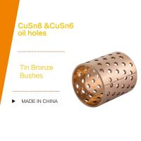 China DIN 1494 / ISO 3547 CUSN8P Wrapped Tin Bronze Bushes Sliding Bearing With Perforations Lubrication Pockets wholesale