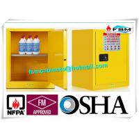 China Single Door Fireproof Paint Storage Cabinets With Grounding Wire Connector wholesale