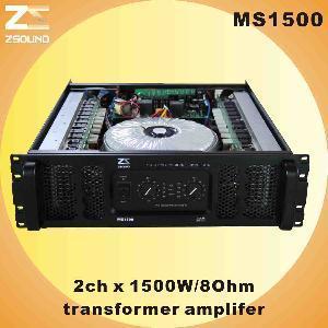 China MS1500 2chx1500W/ 8ohm Professional Amplifier (MS1500) wholesale