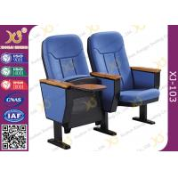 China Guest Church Hall Chairs With Arm U Legged / Fabric Covered Chair wholesale