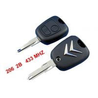 China Citroen C2 Remote Key 433MHZ, 2 Button Citroen Auto Remote Key Blanks wholesale