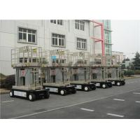 China Four Mast Self Propelled Aerial Work Platform 10m For Continuous Aerial Working wholesale