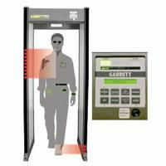 Hotel Shakeproof Door Frame Metal Detector With Light And Sound Alarm
