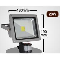 China COB led flood light PIR Motion Sensor 20W dimmable RGB 2-12M infrared sensor for car park wholesale