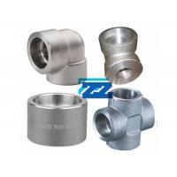 China Stainless Steel Socket Weld Pipe Fittings 1 / 8 - 4 Inch Size 9000LB Pressure BS3799 on sale