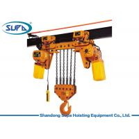 China 220V - 440V Lifting Chain Hoist Heat Treatable Aluminum Alloy Chain Material Remote Control Type wholesale