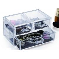 Quality 3 Drawers Acrylic Display Holders , Makeup Jewellery Organizer Box for sale