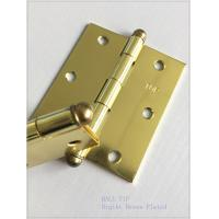 China High Lights Ball Head Heavy Duty Door Hinges , Cabinet Door Hinges Bright Color on sale