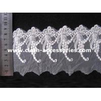 Quality Wedding Off White Guipure Embroidered Lace Fabric With Graped Shape for sale