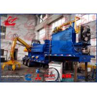 China Mobile Scrap Metal Baler Logger Hydraulic Metal Baling Press Diesel Engine Power Feeding Grab Equipped wholesale