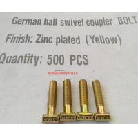 German half coupler M14 81mm 8.8 grade zinc plated T- BOLT