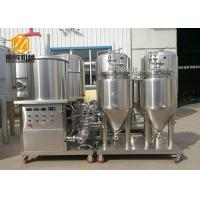 Quality Conical 100L Automatic Brewing System Stainless Steel / Red Copper Body for sale