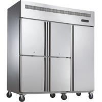 China Bars 3 Doors Commercial Silver Upright Freezer With Air Cooling wholesale