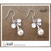 China OEM / ODM customed 925 fashion sterling silver gemstone earrings W-AS1061 wholesale