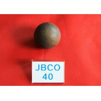 China B2 D40MM Grinding Media Steel Balls High Core Hardness 56 - 59hrc for Mines wholesale