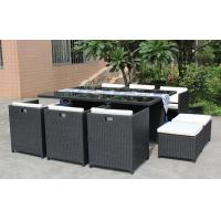 China 9pc Outdoor wicker dinning table & chair--16203 wholesale