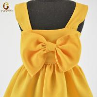 China 2019 hot-sale yellow sleeveless girl doll dress for 18inch American girl doll clothes wholesale