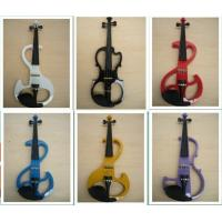 China White / Black Silent 4/4 Solid Wood Electric Violins With Ebonized Fingerboard wholesale