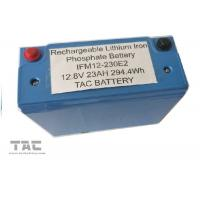 China Blue 12V LiFePO4 Battery Pack 26650 23AH With Housing UL2054 For Sloar Lighting wholesale