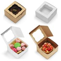 China Bakery Cake Take Away Box , Food Packaging Boxes With Clear Viewing Window wholesale