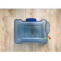 China Outdoor Drinking Water Storage Containers Camping Water Storage Bucket Clear on sale