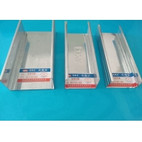 China Plaster House Light Gauge Steel Profiles , Light Weight Steel Furring Channel wholesale